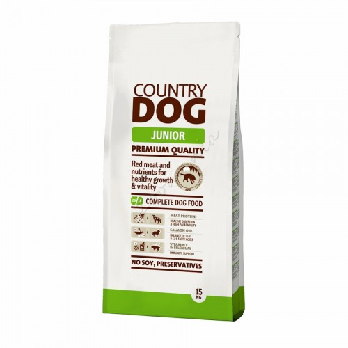 "Суха храна ""Country Dog Junior"" - 15 kg"