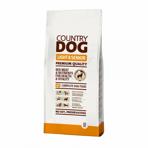 "Суха храна ""Country Dog Senior & Light"" - 15 kg"