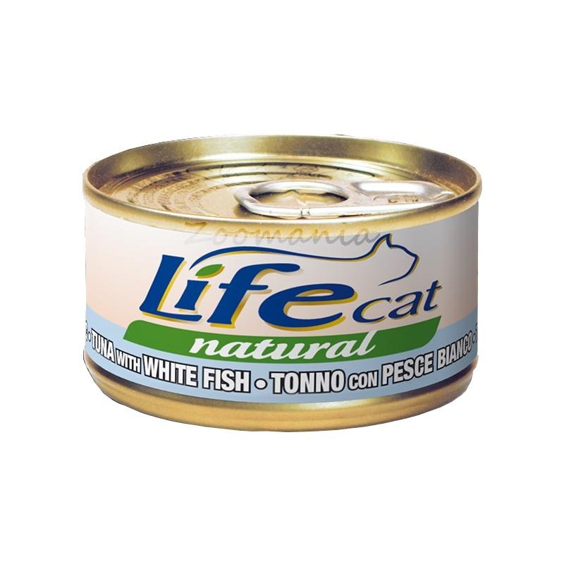 """Котешка консерва """"Туна с бяла риба"""" – 70 гр"""
