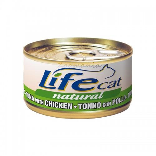 """Консерва Life Natural Cat """"Туна с пиле"""" - 85 гр"""