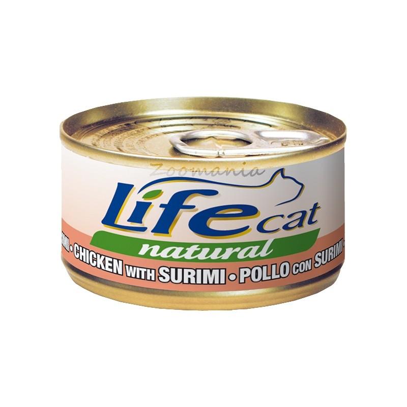 """Котешка консерва """"Пиле със сурими"""" – 70 гр"""