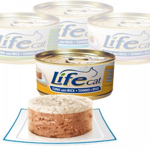"""Консерва за котки """"Lifecat Туна с пиле и ориз"""" - 170 гр"""