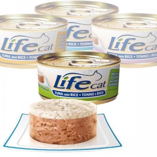 """Консерва за котки """"Lifecat Туна с калмари и ориз"""" - 170 гр"""