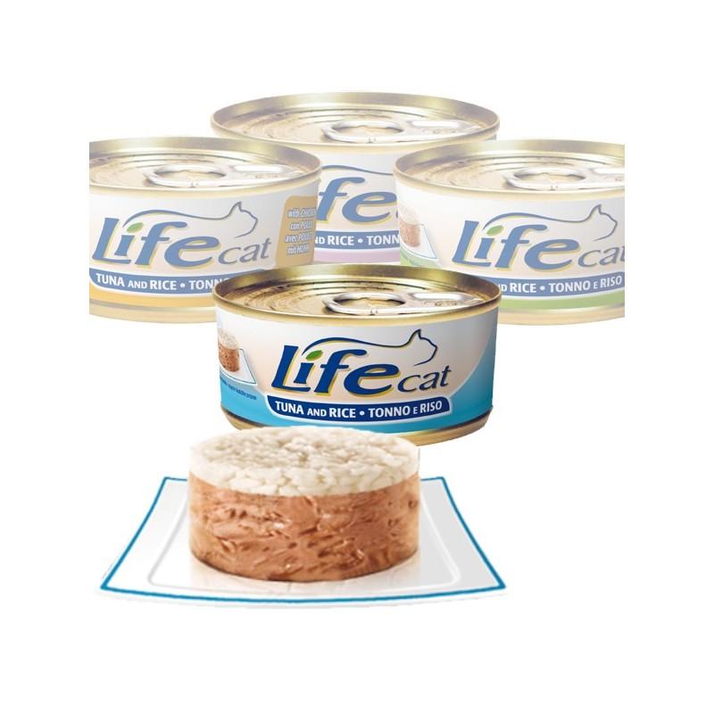 """Консерва за котки """"Lifecat Туна и ориз"""" - 170 гр"""