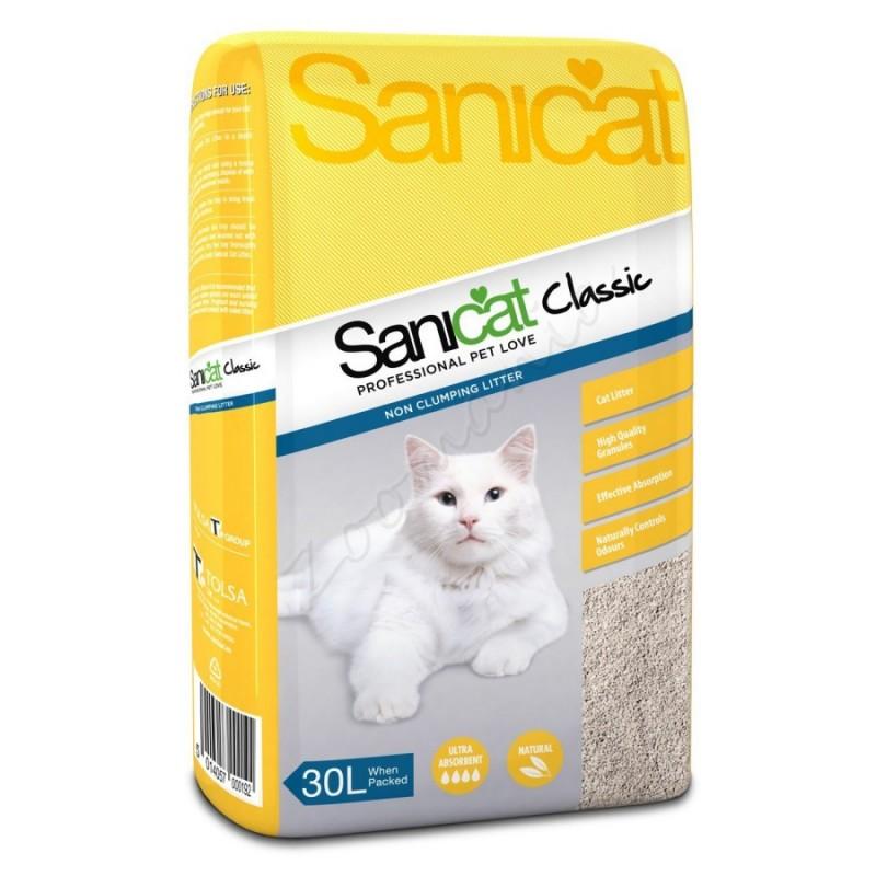 Абсорбент за котешка тоалетна - Sanicat Classic Absorbent – 30 л