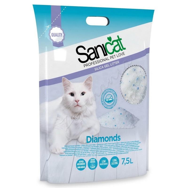 Пясък за котешка тоалетна - Sanicat Diamonds – 15 л.