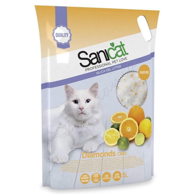 Абсорбент за котешка тоалетна - Sanicat Diamonds Citric – 5 л.
