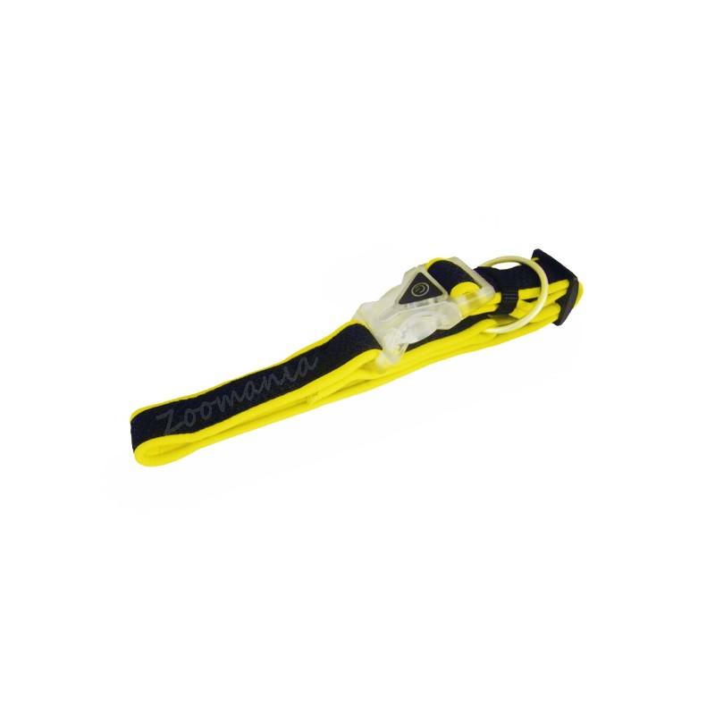 Нашийник за куче Mesh Preno Flash - жълт неон