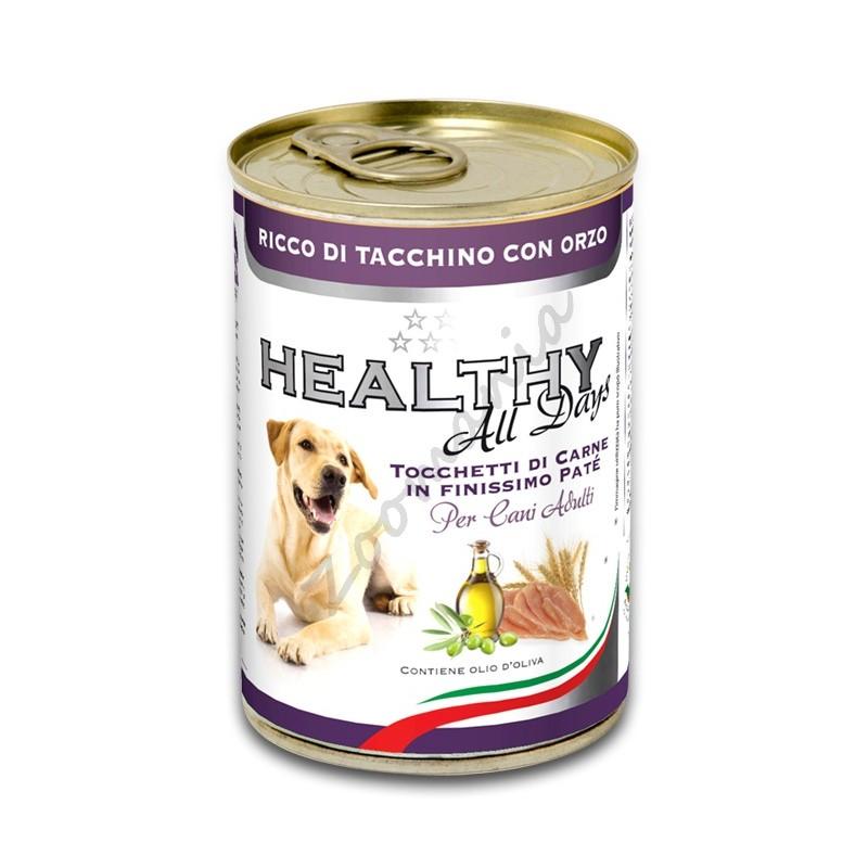 """Качествена кучешка консерва - Healthy All days """"Пуйка с ечемик"""""""