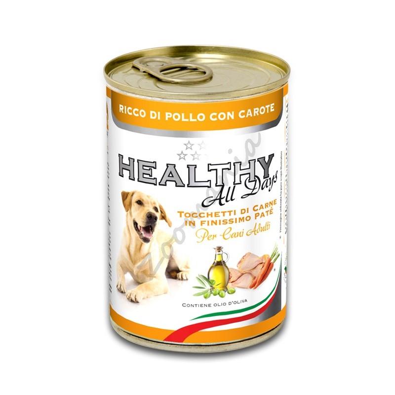 """Качествена италианска кучешка консерва - Healthy All days """"Пиле с моркови"""""""