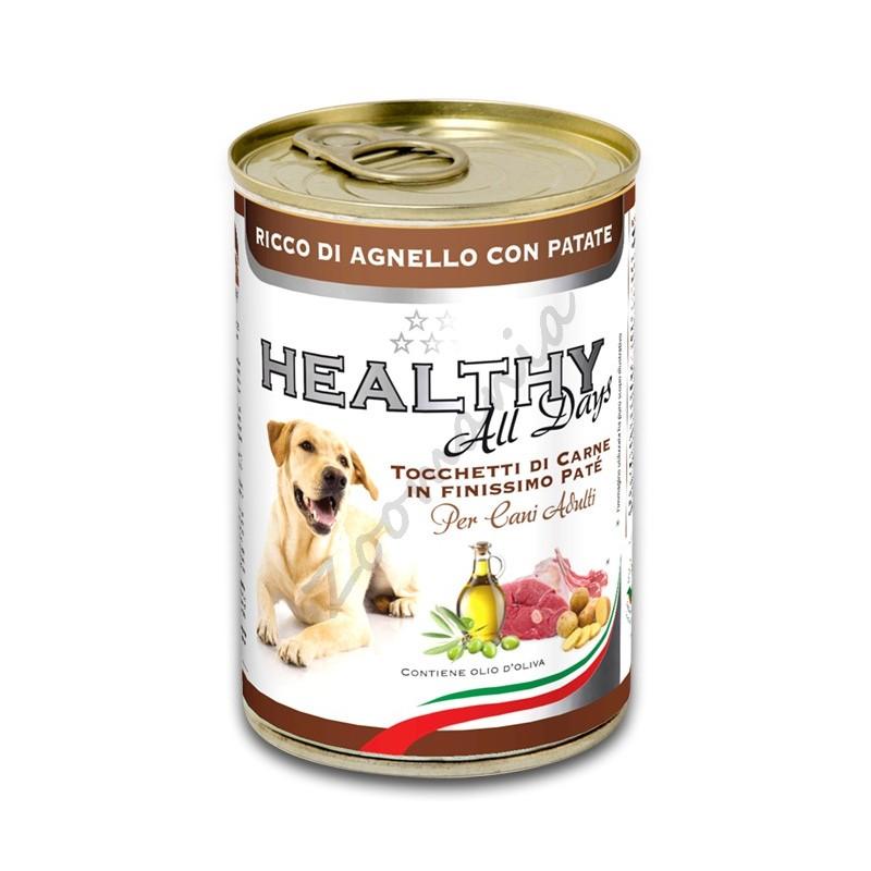 """Качествена италианска кучешка консерва - Healthy All days """"Агне с картофи"""""""