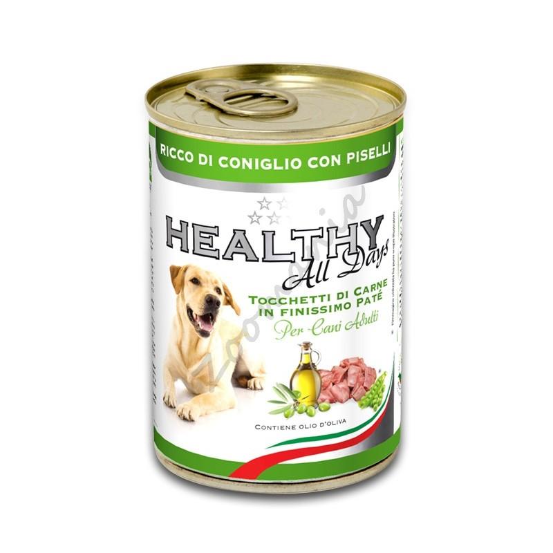 """Качествена италианска кучешка консерва - Healthy All days """"Заек с грах"""""""
