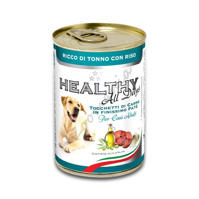"""Качествена италианска кучешка консерва - Healthy All days """"Риба тон с ориз"""""""