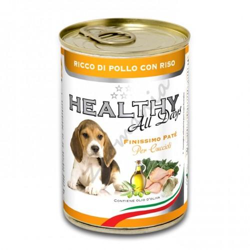 """Качествена италианска консерва за малки кученца - Healthy All days Puppy """"Пиле с ориз"""""""