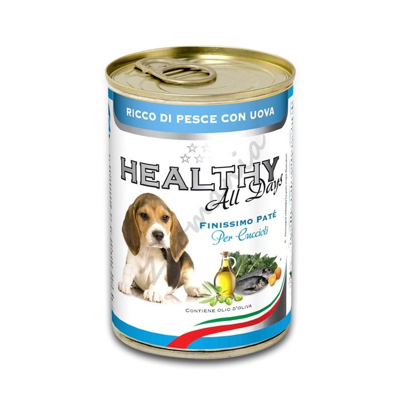 """Качествена италианска консерва за малки кученца - Healthy All days Puppy """"Риба с яйца"""""""