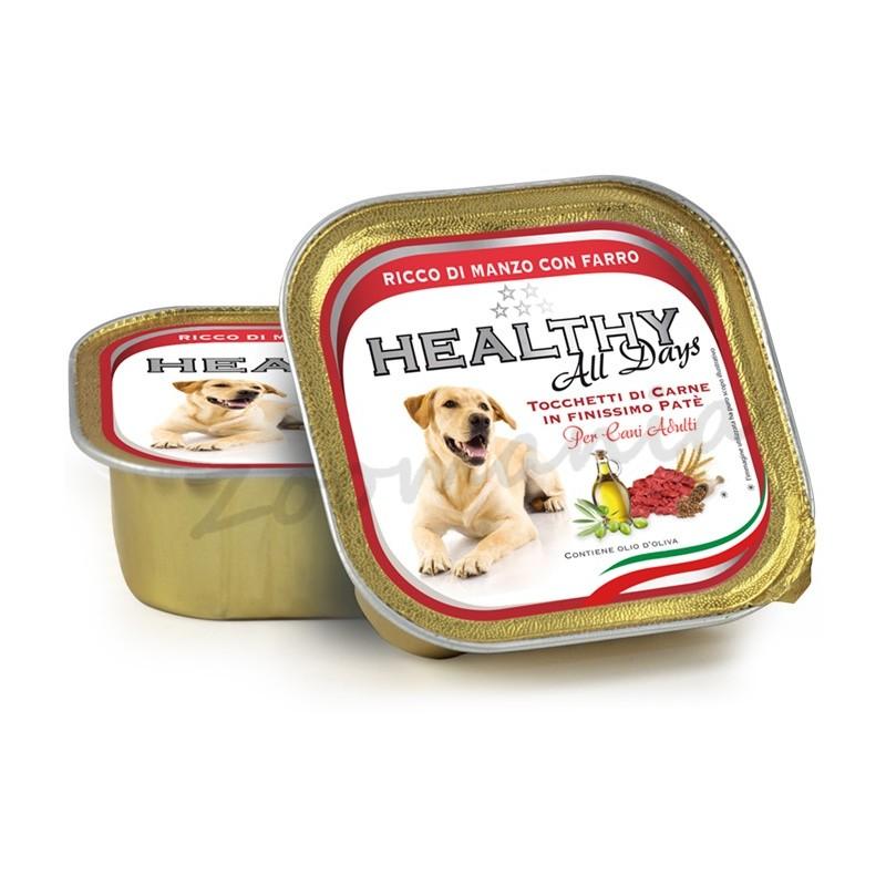 """Пауч за кучета - Healthy All days """"Говеждо със спелта"""""""