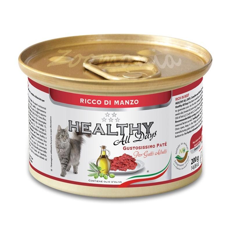 """Консерва за котки - Healthy All days Cat """"Говеждо"""""""