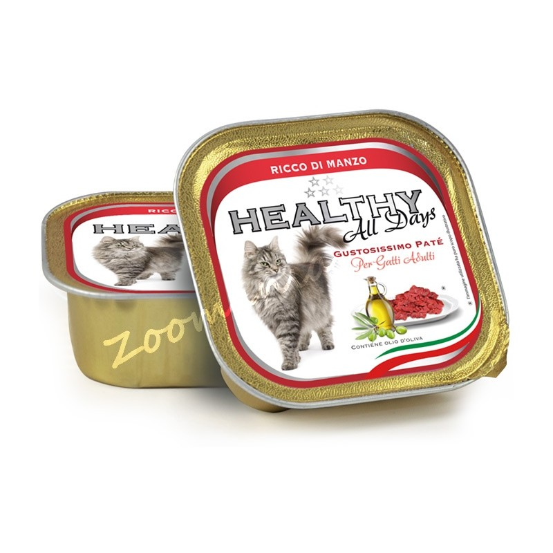 "Пауч за котки - Healthy All days Cat ""Говеждо"""