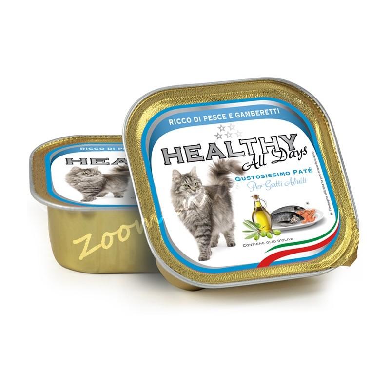 """Пауч за котки - Healthy All days Cat """"Риба със скариди"""""""