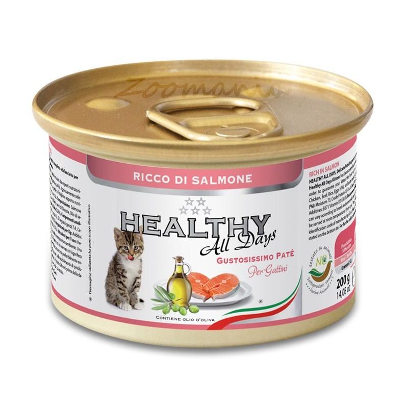 "Консерва за котенца - Healthy All days Kitten ""Сьомга"""