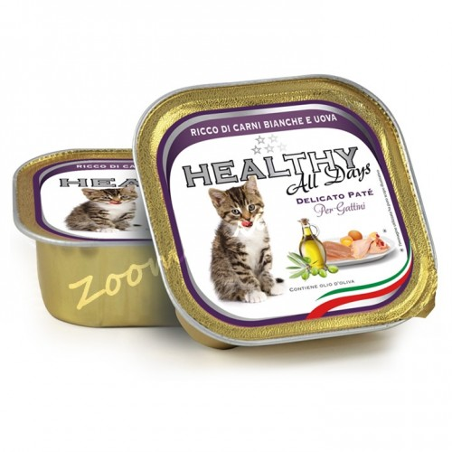 "Пауч за котенца - Healthy All days Kitten ""Бели меса с яйца"""