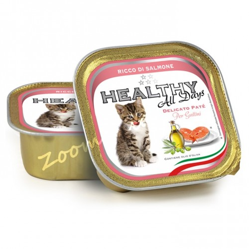 "Пауч за котенца - Healthy All days Kitten ""Сьомга"""