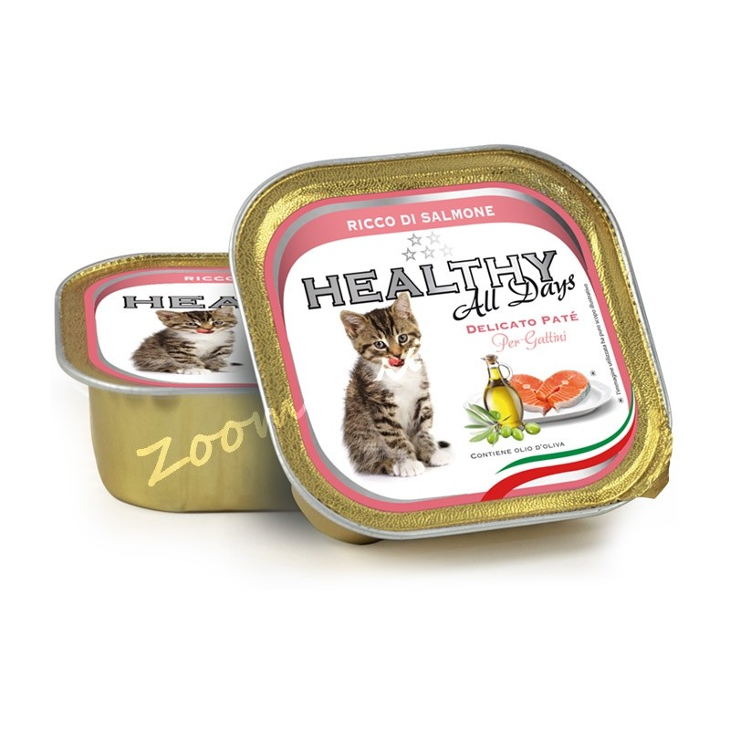 """Пауч за котенца - Healthy All days Kitten """"Сьомга"""""""