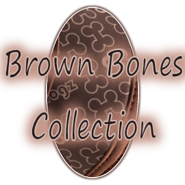 Rogz Trendy Brown Bones